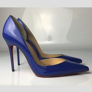 Christian Louboutin Iriza 100 Pervenche Heels 37